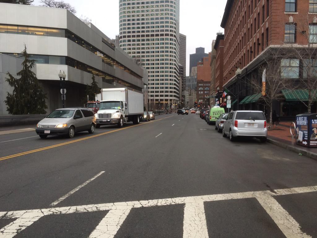 Maybe 1st announcement today will be that Congress St outside @BSAAIA is getting road diet & bike lanes... #BOSWERC http://t.co/bOtY8gFnno