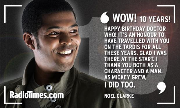 RT @RadioTimes: Mickey Smith, AKA @NoelClarke, returns! Albeit only to wish #DoctorWho a happy 10th birthday… http://t.co/PYbPO8KFdr http:/…