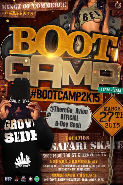 #BootCamp2k15 TOMORROW at 5002 Moulton St Greenville Tx |