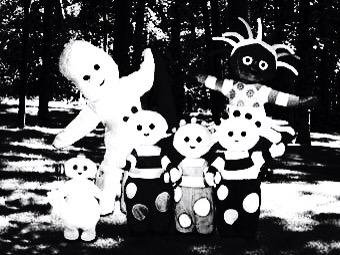 Lj Trafford On Twitter JamesMelville The Teletubbies Look Like - Teletubbies in black and white is terrifying