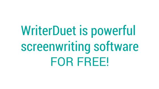 WriterDuet on Twitter: