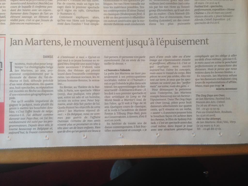 Jan Martens على تويتر Maso Mais Pas Trop Tonight French