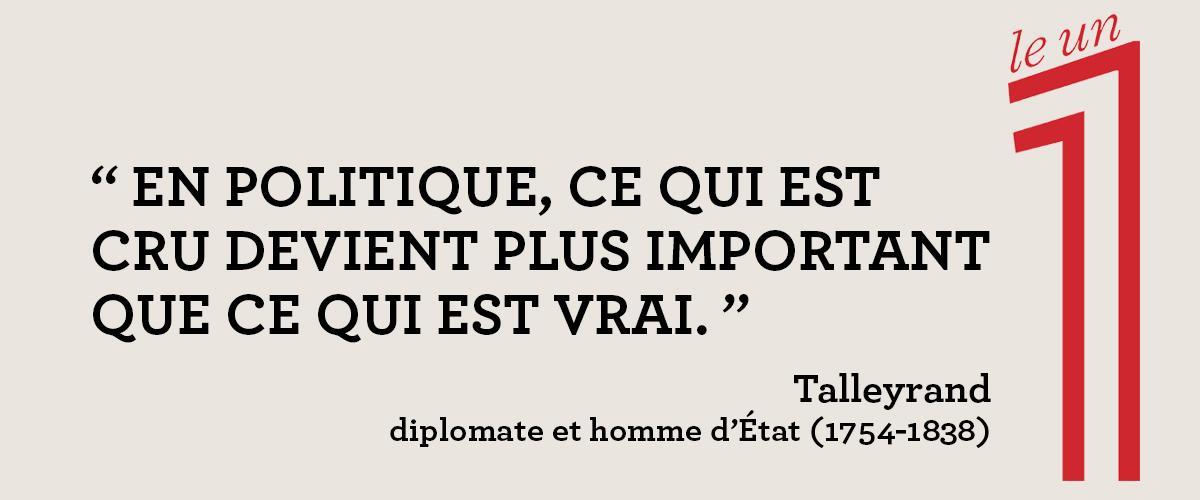 Le 1 در توییتر Le Mensonge En Politique Par Talleyrand La