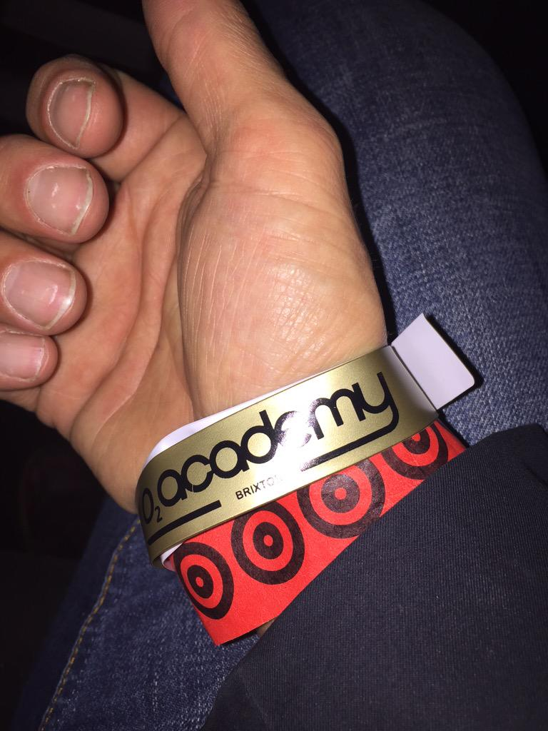 Not many occasions in life when you see a true star born.I just did -@samsmithworld at @O2academybrix #wristbandedup! http://t.co/lsWMty3MzA
