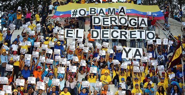 Alzamos nuestra voz con sentimiento revolucionario para exigir #ObamaDerogaElDecretoYa #VenezuelaEsEperanza http://t.co/87noHtBd73
