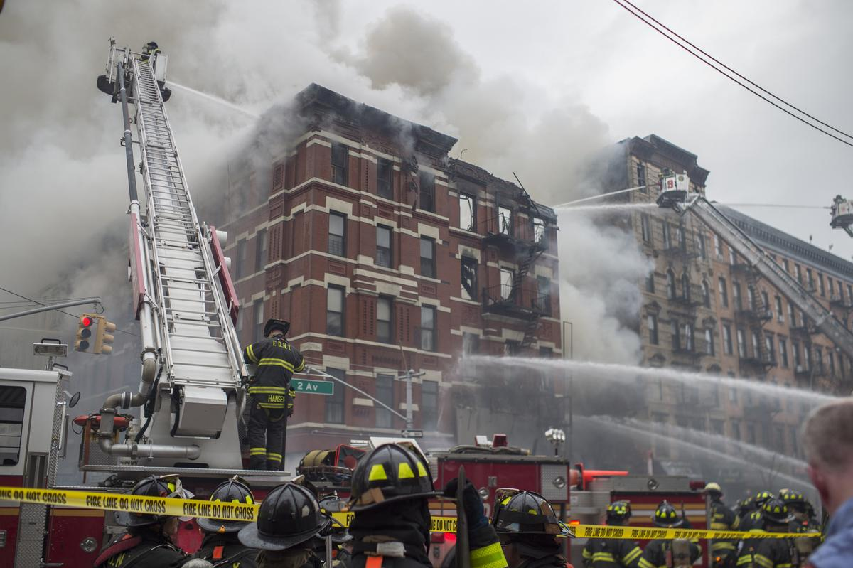 Approximately 250 members of the @FDNY responded to today's #EastVillage building collapse. http://t.co/2tg265bz1C