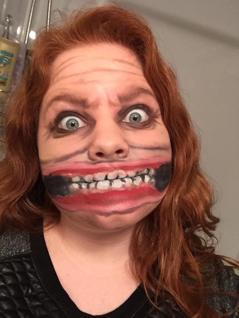 """Man Youtube Makeup Gurus: Abby_sfx On Twitter: """"Insane Person Makeup, The Mouth In"""