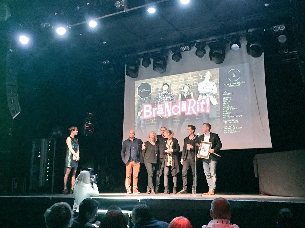 RT @GeasyApp: #GrandOne integrated campaign of the year award goes to Brändärit http://t.co/rv8Vk9sMb3 @TBWA_HELSINKI http://t.co/e66Mxo2fFZ