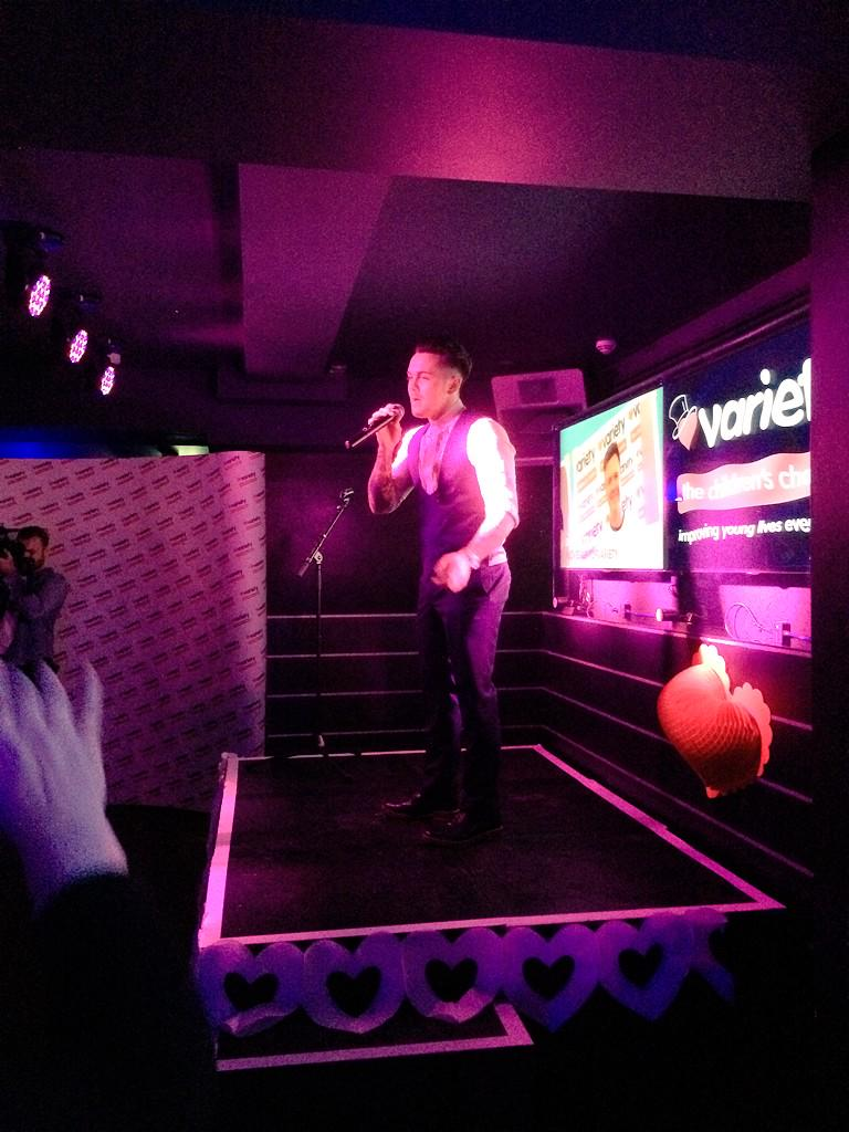 RT @VarietyGB: Mr @therealRayQuinn has just taken to the stage at our I Love A bit of Variety party http://t.co/2IwWEnMOro