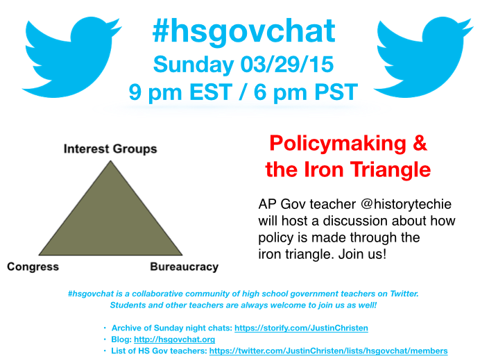 Thumbnail for #hsgovchat (03/29/15): Iron Triangles & Policymaking