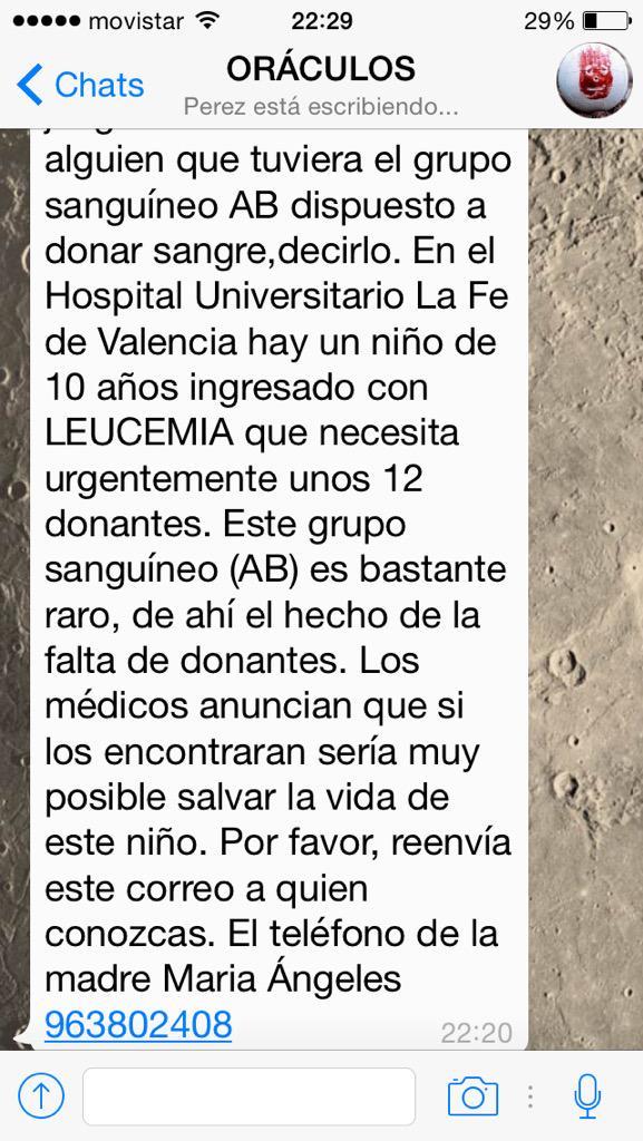 En el hospital de Valencia una madre hace este anuncio urgente http://t.co/w7omyF2ToI