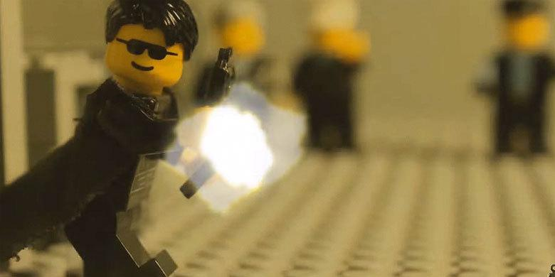 The Matrix Lobby Fight Scene Is Recreated In Lego With A Brand New Ending http://t.co/9RBWj8YOGn http://t.co/n3GUvHVE7E