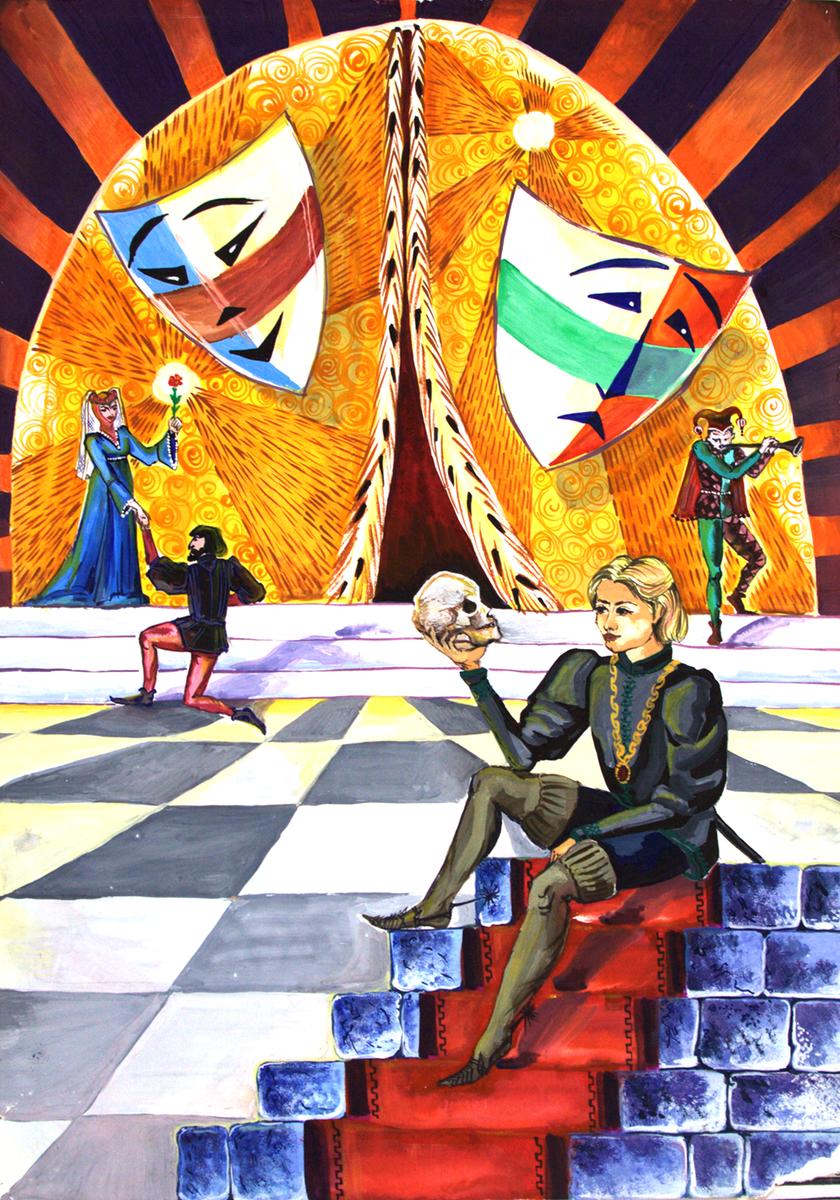 Тема театр рисунок