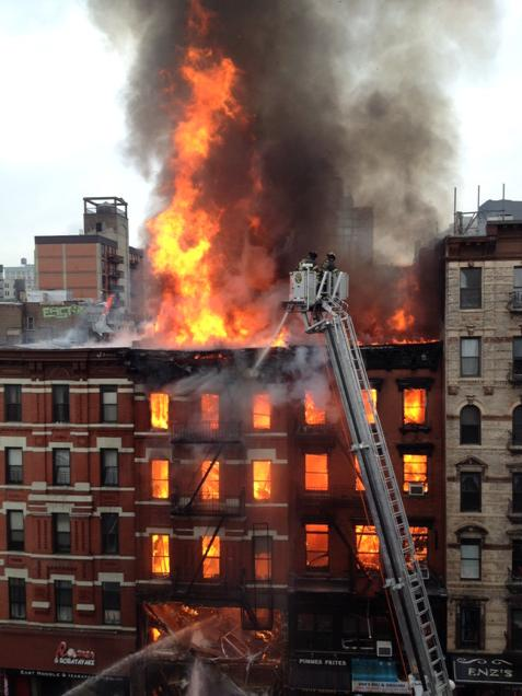 There were more than 250 #FDNY members operating on-scene in #EastVillage today.
