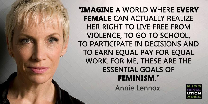 @stiletto_sando MT @MissREVO: It's definitely NOT about man-hating. Thanks @AnnieLennox! #Feminism http://t.co/vHXKNkwaKg