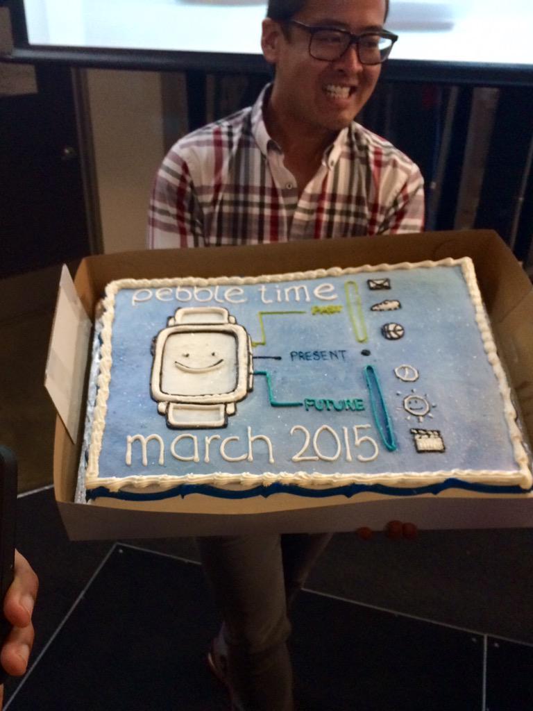 Congratulations @Pebble on breaking $20 million on your @kickstarter campaign! #PebbleTime party success @PebbleDev http://t.co/pPQN2hb1s1