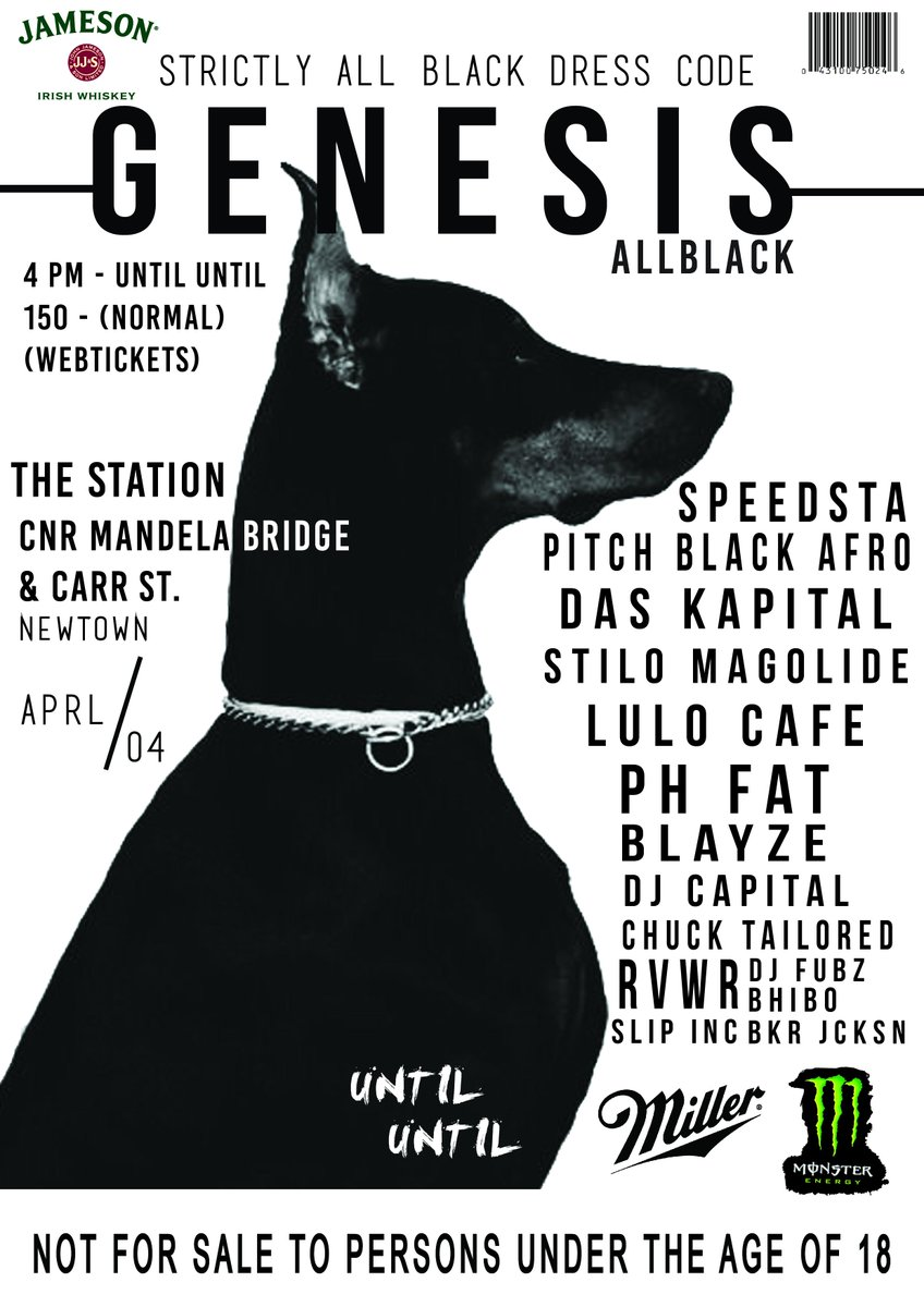 #GenesisAllBlack | 04.04.15 | Hope  u have purchased your ticket. | We are a week away from this big fixture. http://t.co/TZMutnDUAd