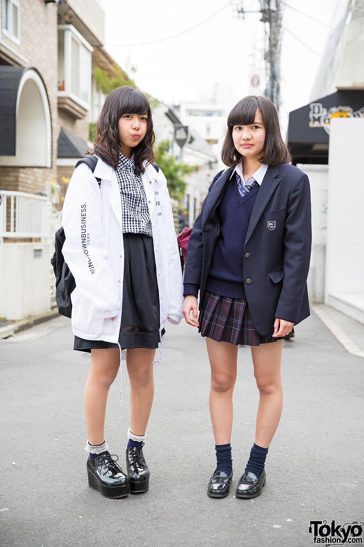 Tokyo Fashion On Twitter Fun Japanese High School Students In Harajuku W School Uniform Myob