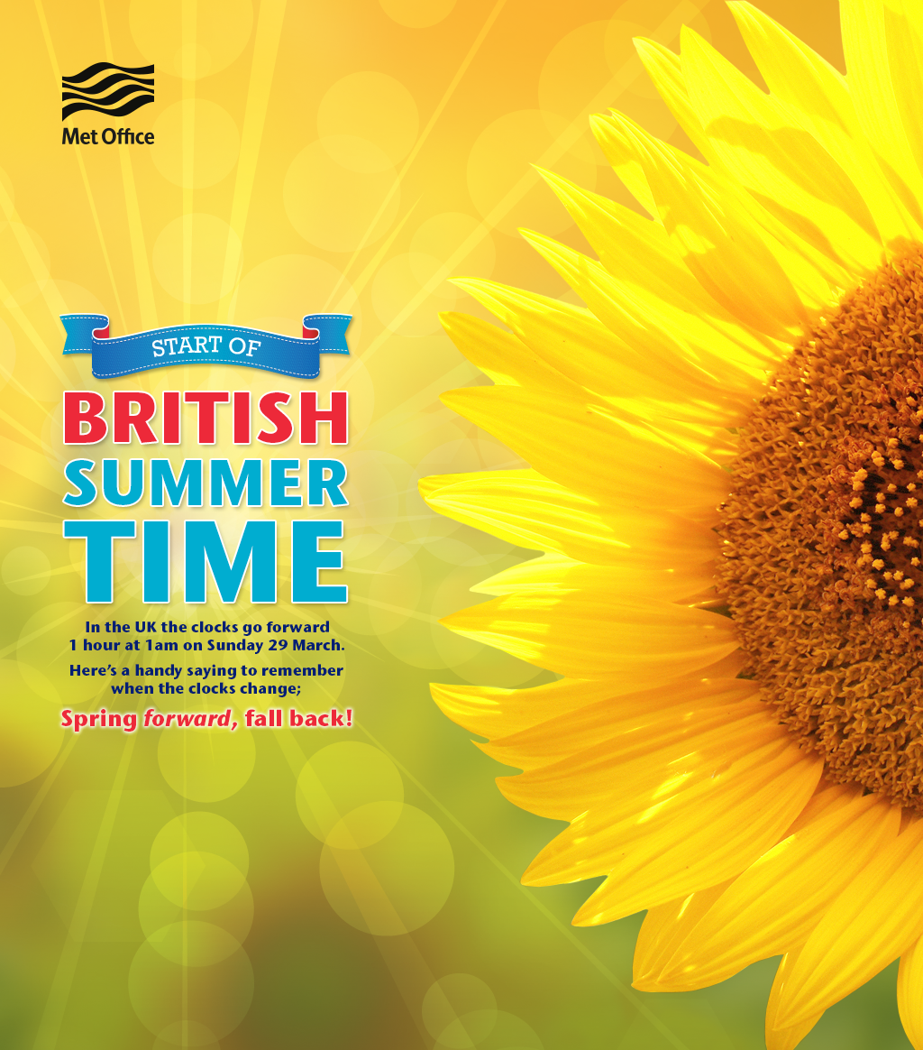 U201c@metoffice: Donu0027t Forget The Clocks Go Forward This Weekend As We Start  British Summer Time! Pic.twitter.com/CQzC69GJVwu201d