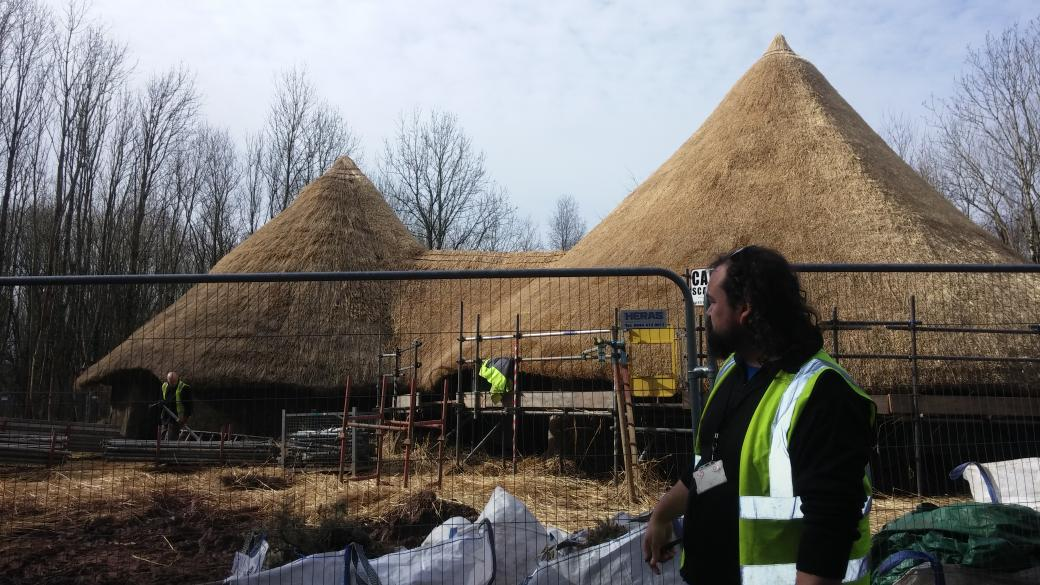 Interesting talks @theCelticguy and #DafyddWiliam on building #BrynEryr this morning! #makinghistory @StFagans_Museum http://t.co/VImqiHGOqv