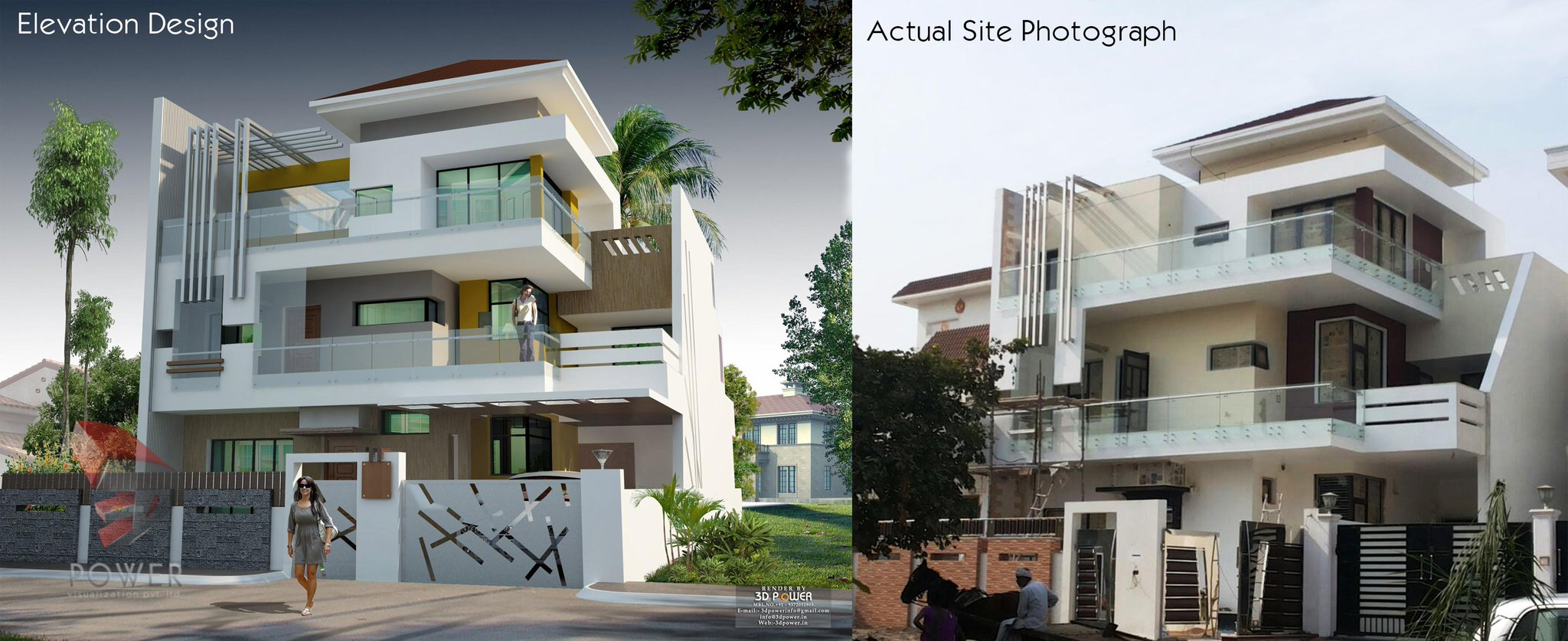 3d power on twitter 3drendering modern architecture for Modern house website