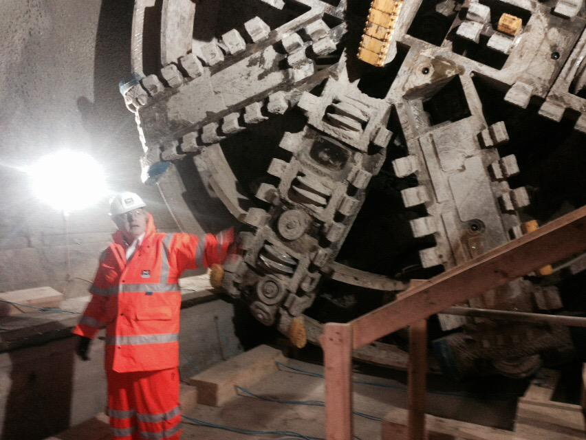 This morning, I visited @Crossrail at Moorgate as they begin the final push on tunnelling - only 750m to go! http://t.co/Rl8BN2NY9b