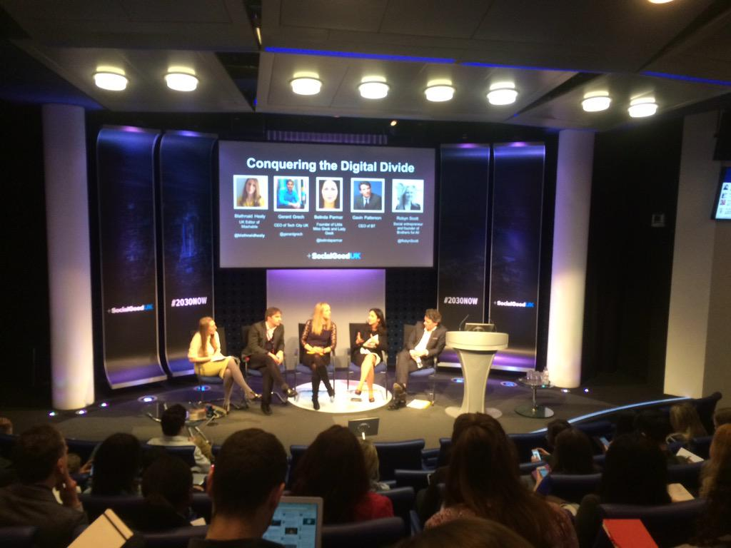 The panel think #TechLiteracy needs to be more inclusive - and to be seen by kids as something cool! #2030NOW http://t.co/4bjRKtQDpV