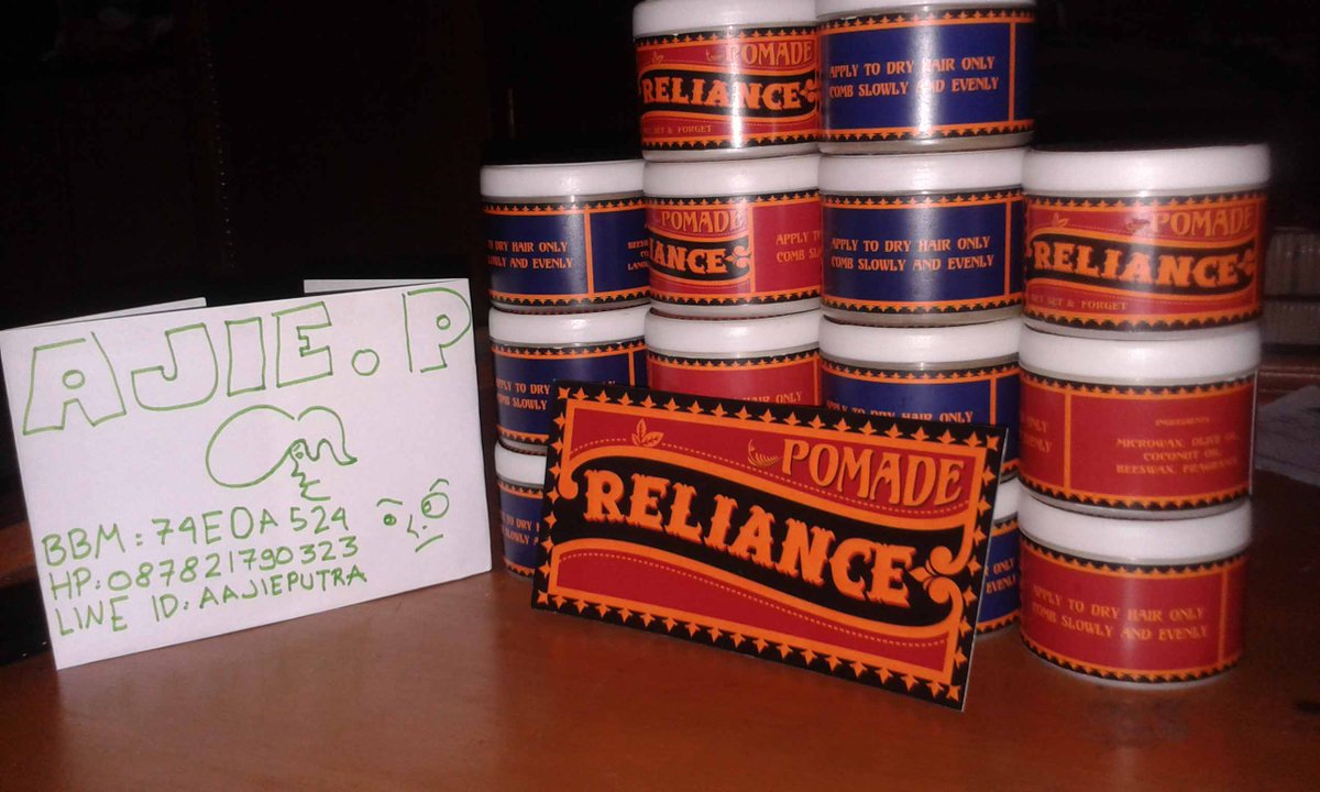 Ajie Putra Perdana Aajieputra Twitter Profile Twipu Reliance Pomade For Sale