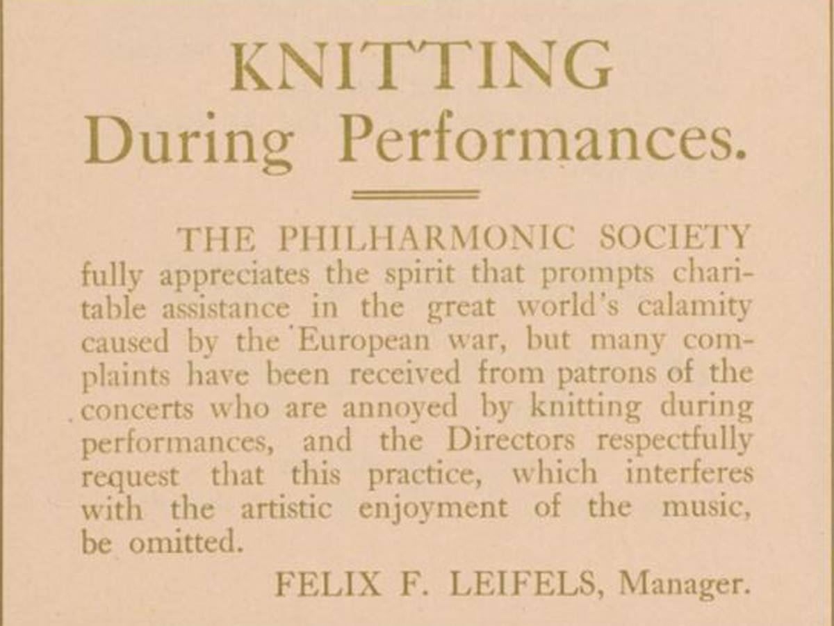 Brilliant. @nyphil Archives shared this yesterday... #knitting #classical http://t.co/xhyjKbAK39