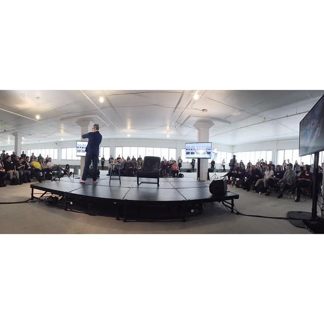Only a 1/4 of a massive crowd for @montreal_cm #MTLCM #CreativeMornings http://t.co/MCOPN8Y9dp http://t.co/a742fhY9t9
