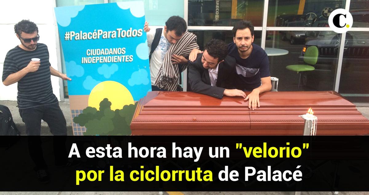Ciudadanos realizan cortejo fúnebre al sueño de las ciclorrutas en Palacé http://t.co/oZHlXS9DOD  #PalacéParaTodos http://t.co/eM8GNu1grc