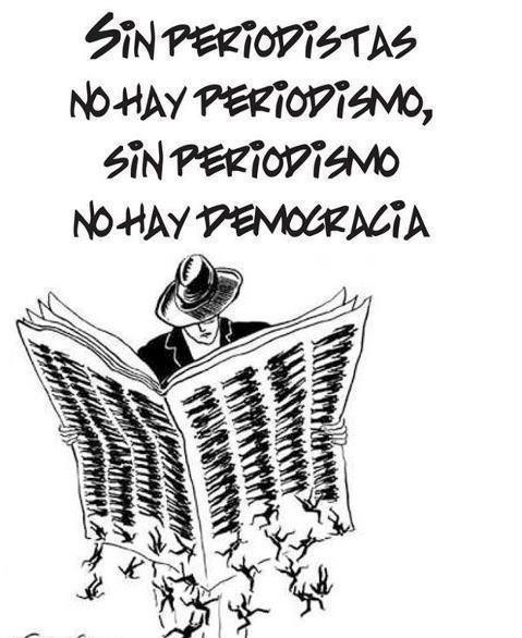 """#BoicotAMediaset """"Sin periodistas no hay periodismo, sin periodismo no hay democracia"""". http://t.co/ZLsTSygho0 vía @JuanLuisOrtegaG"""
