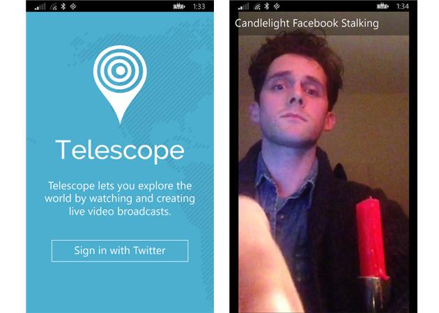Windows Phone's third party Periscope app lets you watch live streams