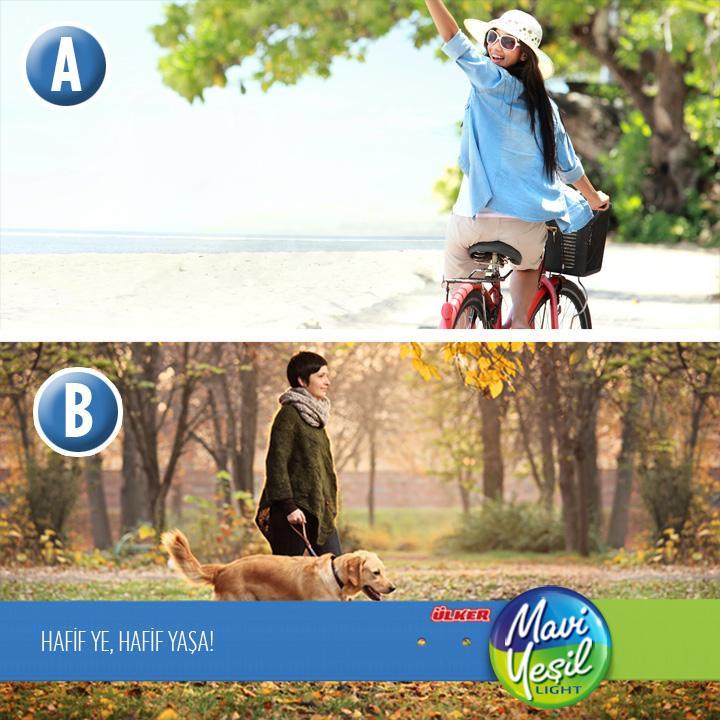 Açık havada senin tercihin hangisi? Bisiklet sürmek mi yürüyüş yapmak mı? http://t.co/0jxbwtErwG