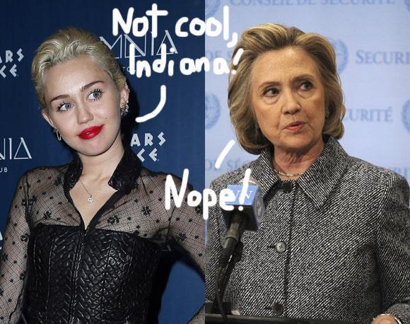 #MileyCyrus, @HillaryClinton, & MORE slam Indiana's LGBT discrimination law! http://t.co/rG4TAawVz3 #BoycottIndiana http://t.co/qI6m60N9Dc