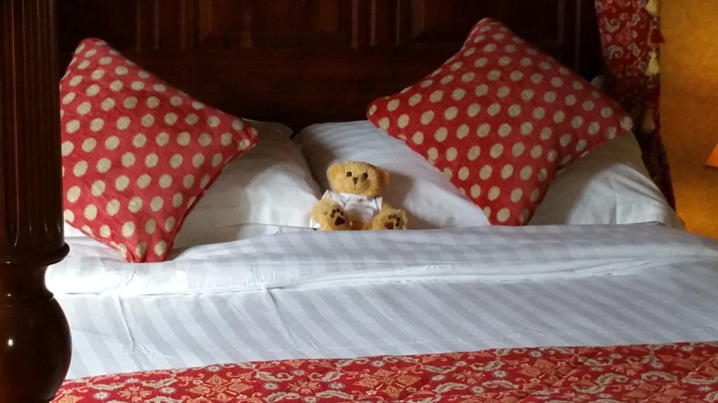 Nice touch on hotel bed, Teddy Bear. Nearly as cute as my Husband ☺ http://t.co/NmfeEdluJ4