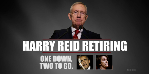 Harry Reid retiring – good riddance old codger!