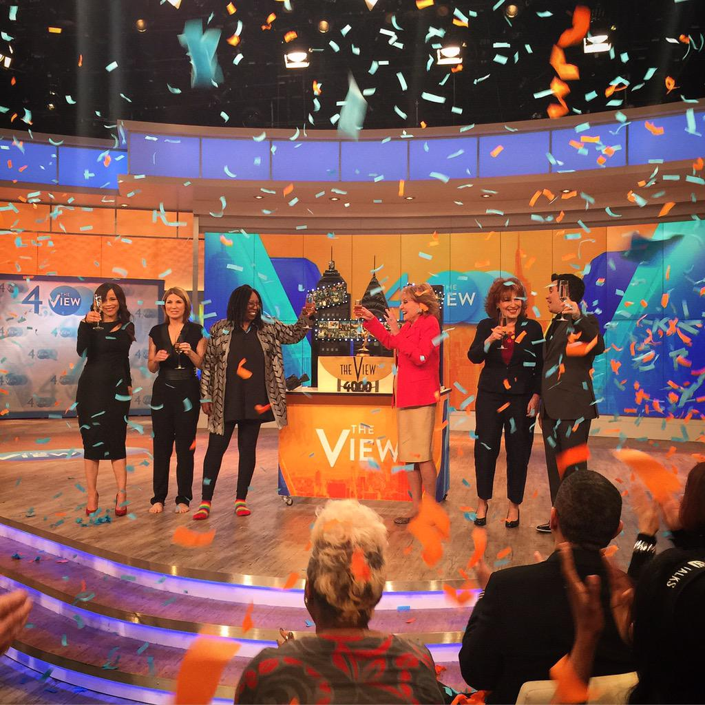 Here's to 4,000 more episodes of @theview! take a little time