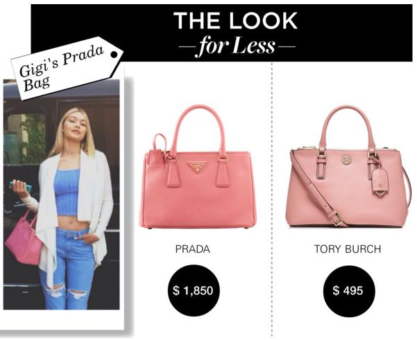 "prada nylon chain shoulder bag - hadidscloset on Twitter: ""LOOK FOR LESS! Gigi's @Prada Mini ..."