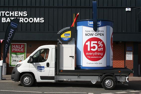 Our new Wickes Paint pot on the road today… http://t.co/Ci5mx8IxE7
