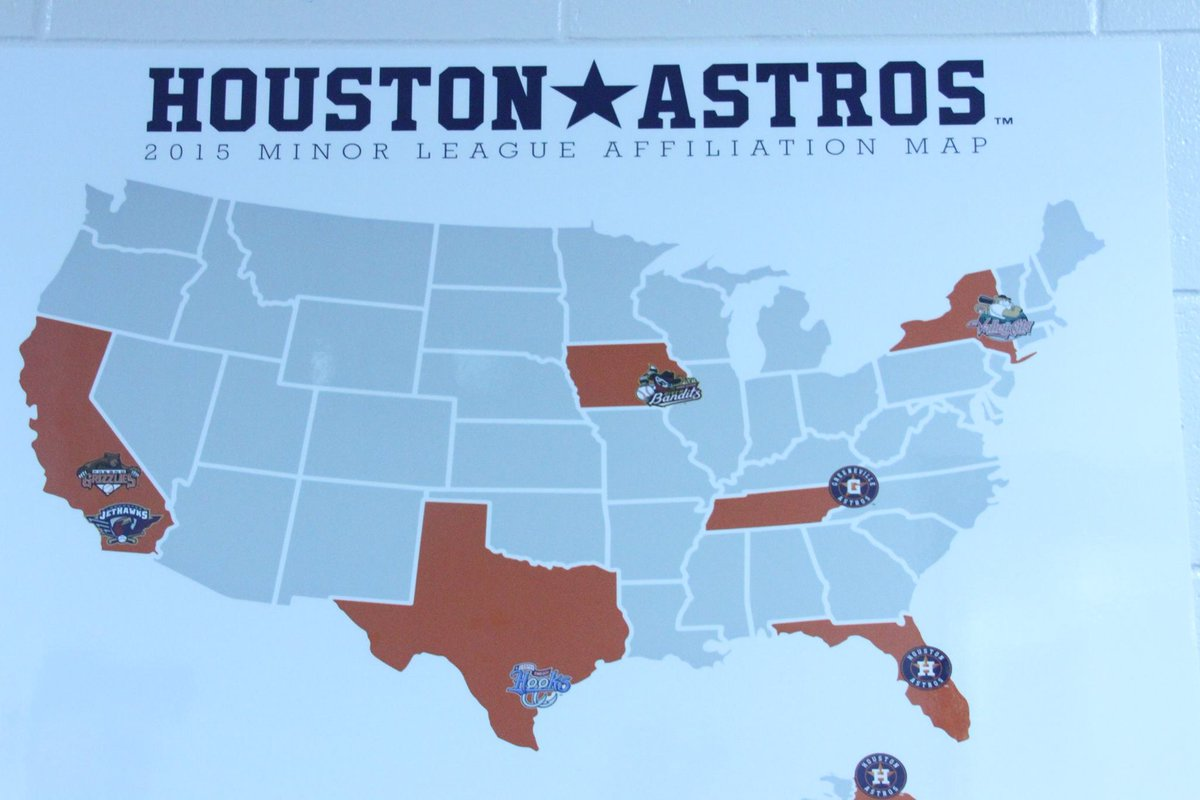 tricity valleycats on twitter cool map of all the astros milb  - tricity valleycats on twitter cool map of all the astros milbaffiliates located in the minor league clubhouse at spring training