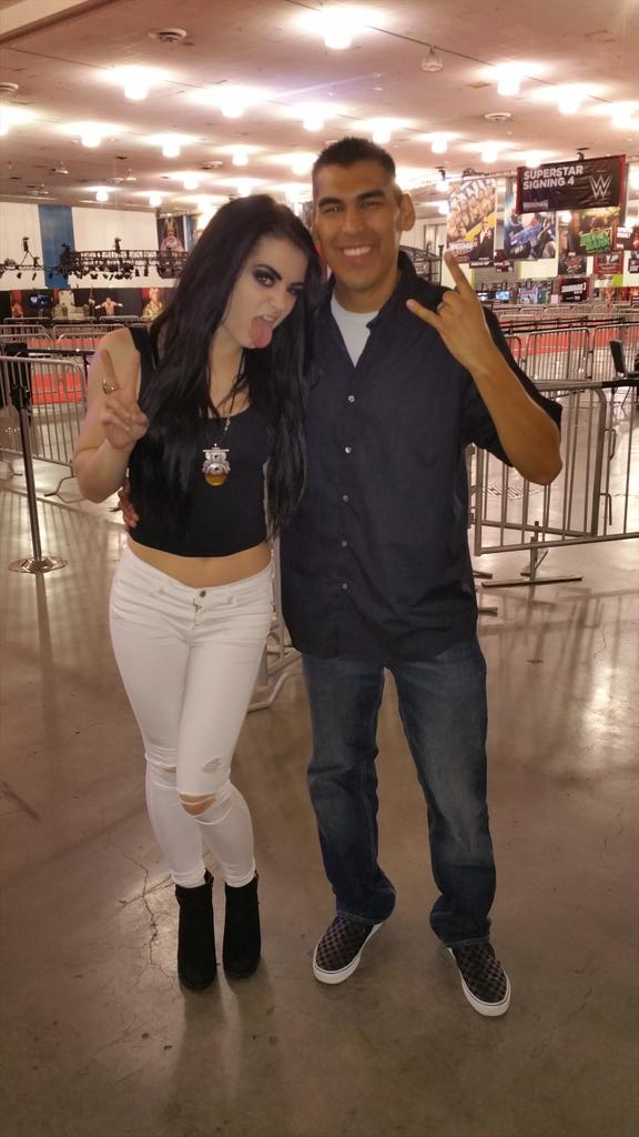 Danny Salas (@RuthlessRadio) on live with @RealPaigeWWE NOW for @WrestleMania weekend! #Q971 http://t.co/7zRUP55yRS