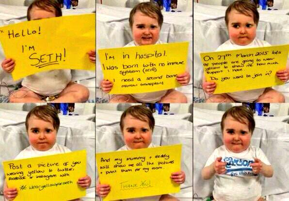 Here's Seth. Show him your love & support! #yellowforseth http://t.co/YG9jqCT2bm