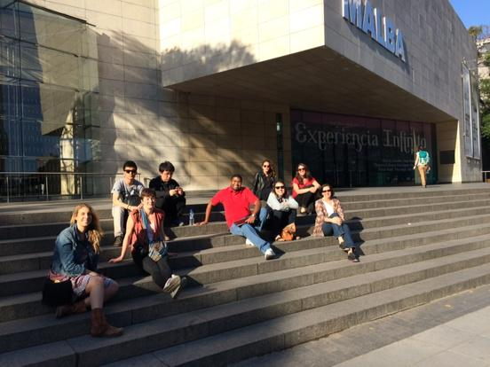 #medillglobal students on the steps of Latin American culture #malba @MedillSchool http://t.co/Edpuizc2x7