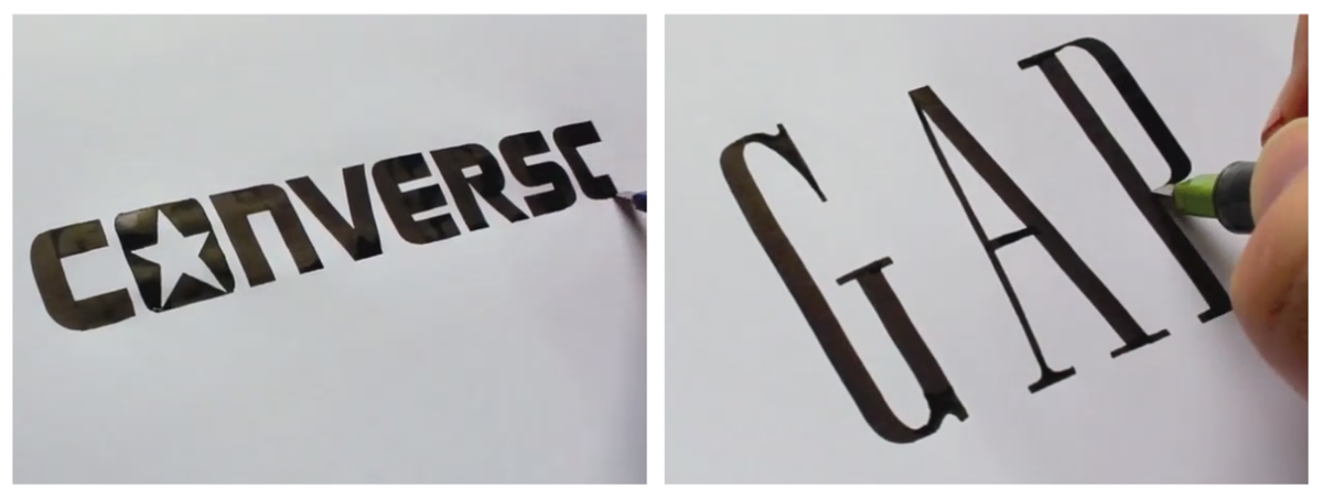 Watch a calligrapher perfectly draw famous logos from