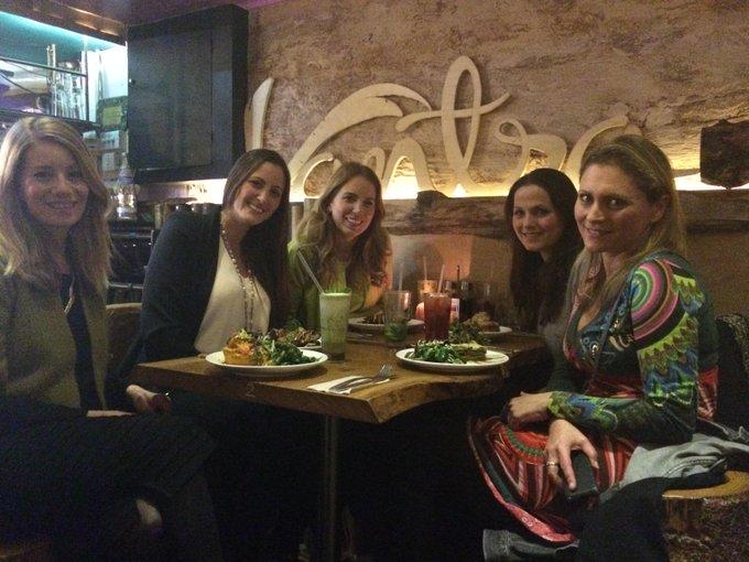 Fab #vegan night out with the girls! Thanks @SusannahSaary @kaitborsay @vantravitao @VeggievisionTV #crueltyfree