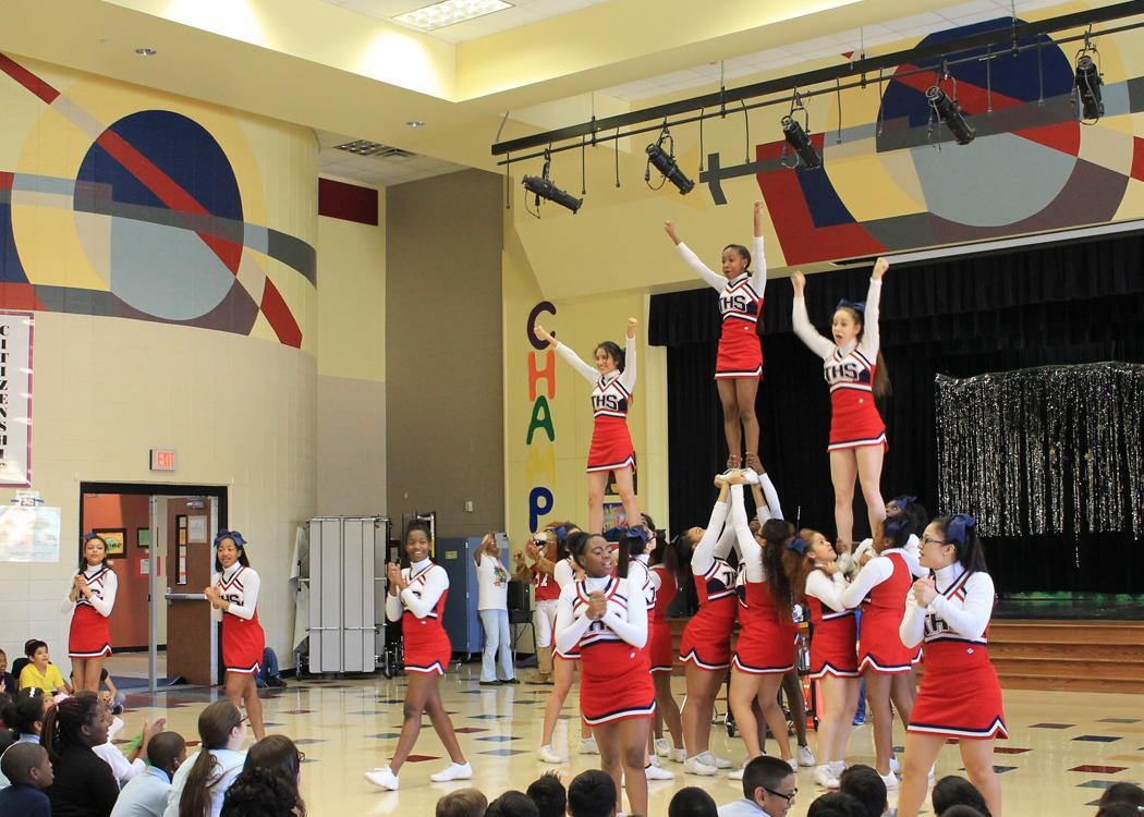 Toro from the Houston Texans visit Horn Elementary