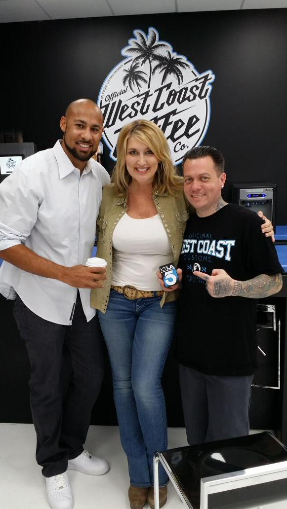 Some guys go to @officialwcc for the cars... I go for the coffee! Hanging with @SelfMadeRyan and @TheHankBaskett http://t.co/PtI3rBicMG