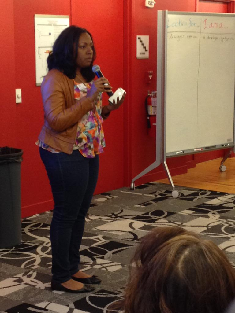 @catpoetry sharing how she found community in tech. #GovTechHack http://t.co/ruAjIsm4ls