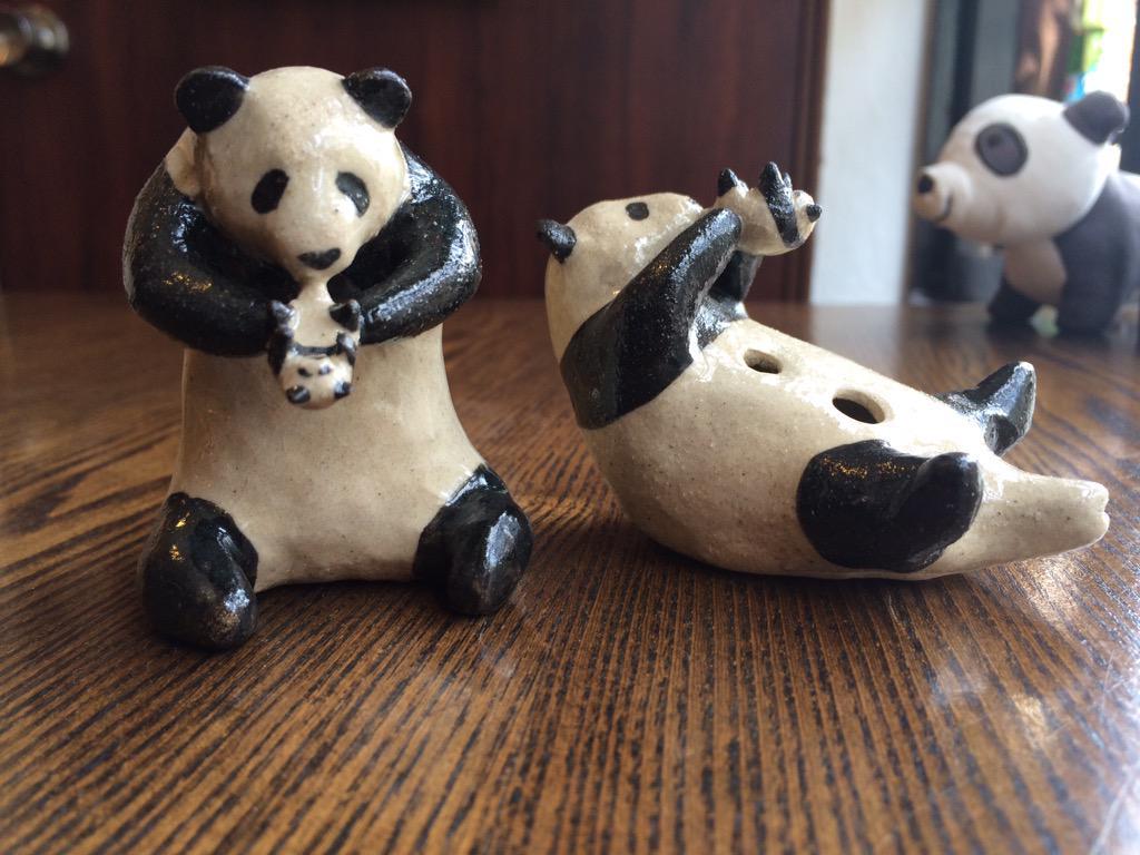 陶器で出来たパンダのオカリナ、パンダリナを購入。ちゃんと音が鳴るんですよー! http://t.co/f0wvE5iBkF